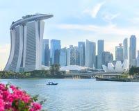 Vue de Singapour central Photo libre de droits