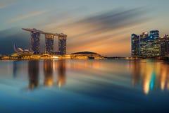 Vue de Singapour des sables de Marina Bay Images libres de droits