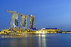 Vue de Singapour des sables de Marina Bay Photos stock