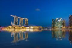 Vue de Singapour des sables de Marina Bay Photos libres de droits