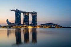 Vue de Singapour des sables de Marina Bay Image stock