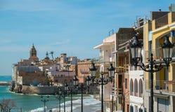 Vue de Sitges Photos libres de droits