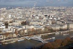 Vue de sity Paris de Tour Eiffel images stock