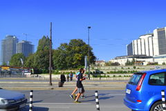 Vue de Sofia Marathon Images stock