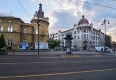 Vue de soirée de Belgrade photos stock