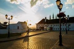 Vue de soirée de Kazan Kremlin, Russie photos stock