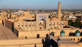 Vue de soirée de Khiva photos libres de droits