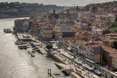 Vue de soirée de la ville historique de Porto, Portugal Images stock
