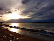 Vue de soirée de région costale de Vaasa Photo stock