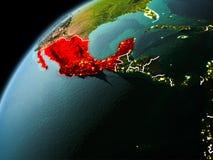 Vue de soirée du Mexique sur terre Image libre de droits
