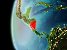 Vue de soirée du Nicaragua sur terre Photographie stock libre de droits