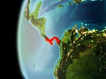 Vue de soirée du Panama sur terre Photos libres de droits