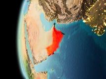 Vue de soirée de l'Oman sur terre Photos libres de droits