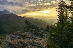 Vue de soirée de Nosal Montagnes de Tatra photo libre de droits
