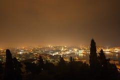 Vue de soirée sur la fente Photographie stock