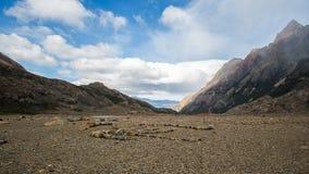 Vue de solitude dans le Patagonia Image libre de droits