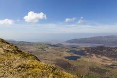 Vue de sommet d'estuaire de Mawddach image libre de droits