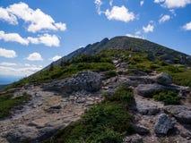 Vue de sommet de montagne, Rocky Trail exposé, Katahdin image libre de droits