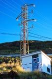 Vue de sous-station de l'électricité Photos stock