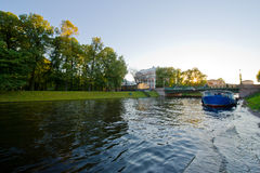 Vue de St Petersburg. Canal de fleuve photo stock