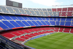vue de stade de nou de camp de Barcelone image libre de droits