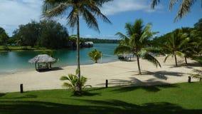 Vue de station de vacances du Vanuatu Images stock