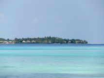 Vue de station de vacances en Maldives Image libre de droits