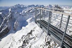 Vue de stit de Lomnicky - faites une pointe dans haut Tatras Photographie stock libre de droits
