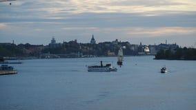 Vue de Stockholm de ville de bateau photo libre de droits