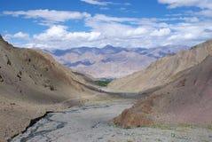 Vue de Stok, Ladakh, Jammu And Kashmir, Inde Photos libres de droits