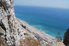 Vue de sud du Gibraltar Images libres de droits
