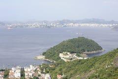 Vue de Sugarloaf, Pao de Azucar, à la baie de Guanabara images libres de droits