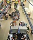 Vue de supermarché d'en haut Images stock