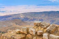 Vue de support Nebo en Jordanie photos stock
