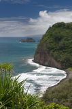 Vue de surveillance de Pololu, grande île, Hawaï Photo stock