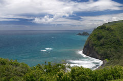 Vue de surveillance de Pololu, grande île, Hawaï Images stock