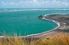 Une vue panoramique sur la baie de Whatipu Image stock