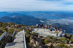 Vue de surveillance de Wellington de bâti de Hobart Tasmania photo stock