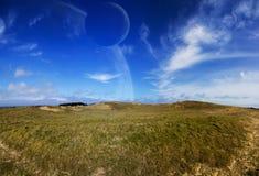 Vue de système éloigné de planète de paysage Photos stock