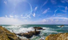 Vue de système éloigné de planète des falaises Photo libre de droits