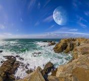 Vue de système éloigné de planète des falaises Photos stock