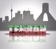 Vue de Téhéran Images stock