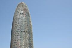 Vue de tête de tour de Barcelone Agbar Images libres de droits