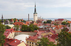 Vue de Tallinn Estonie Images stock