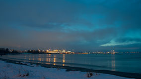 Vue de Tallinn, paysage urbain de secteur de Pirita Photographie stock