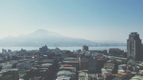 Vue de Tamsui Photographie stock libre de droits