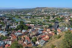 Vue de Tbilisi, la Géorgie Image stock