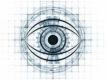 Vue de technologie illustration de vecteur