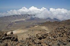 Vue de Teide maximal Photos stock