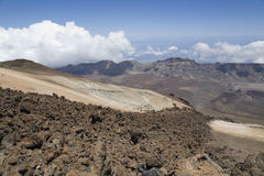 Vue de Teide maximal Photographie stock